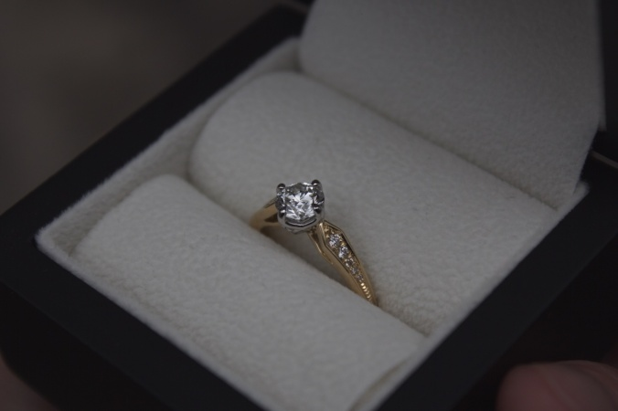 Patience Jewellery Bespoke Commission Vintage Gold Damond Engagement Ring 2
