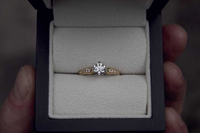 Patience Jewellery Bespoke Commission Vintage Gold Damond Engagement Ring 3