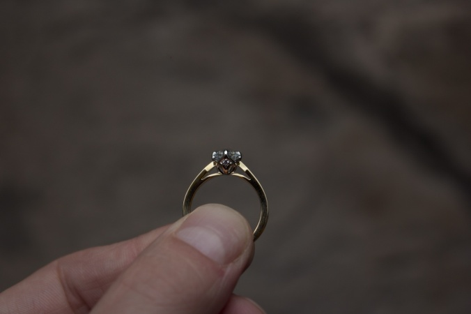 Patience Jewellery Bespoke Commission Vintage Gold Damond Engagement Ring